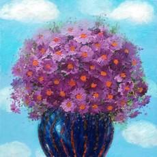 하늘과 국화꽃