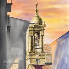 교회가 보이는 풍경