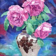 Lost Flower-이조백자와 장미